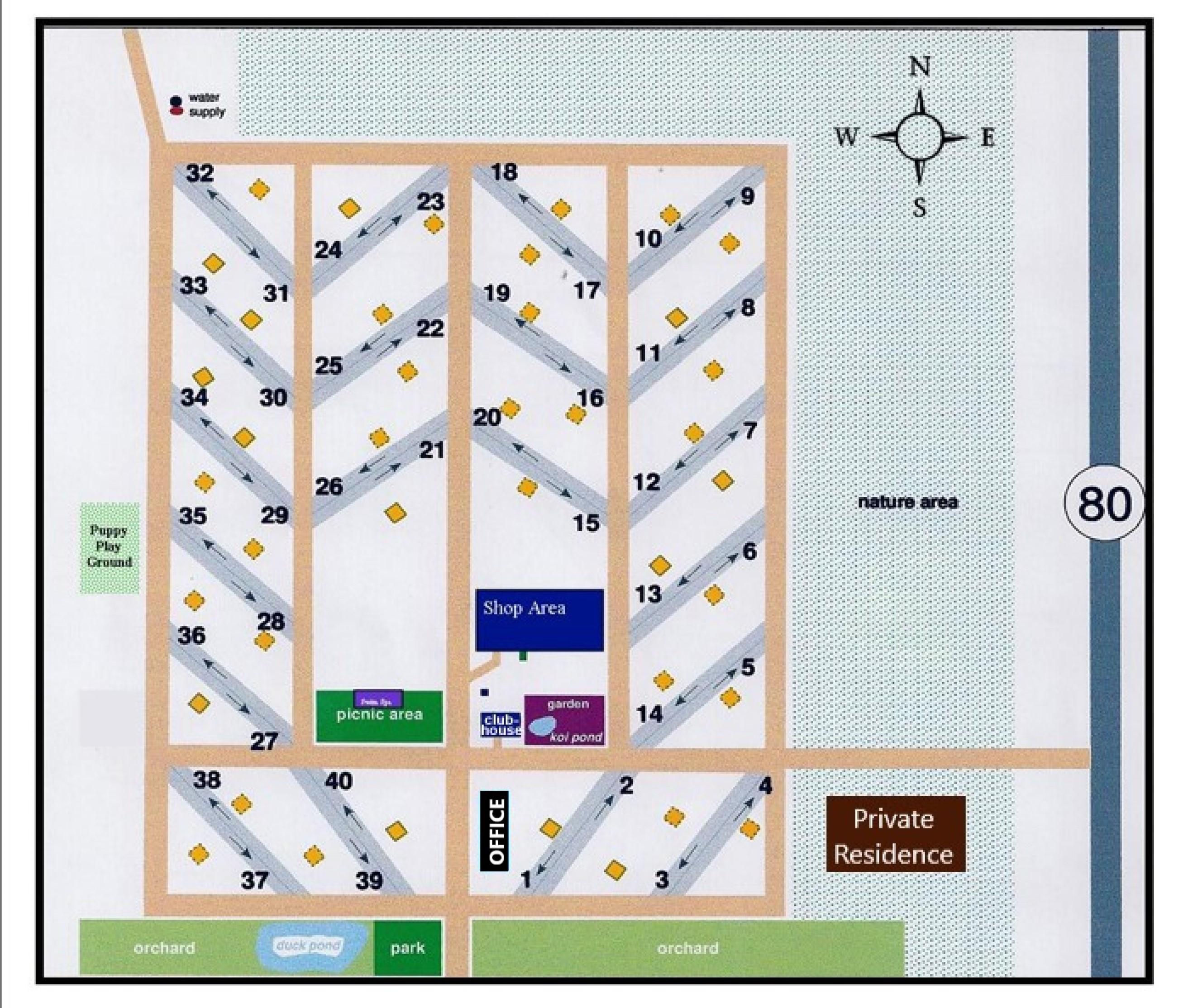 Rusty's RV Ranch Park Map
